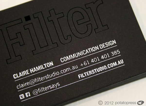 Laser cut and foiled business cards for filter potato press search colourmoves