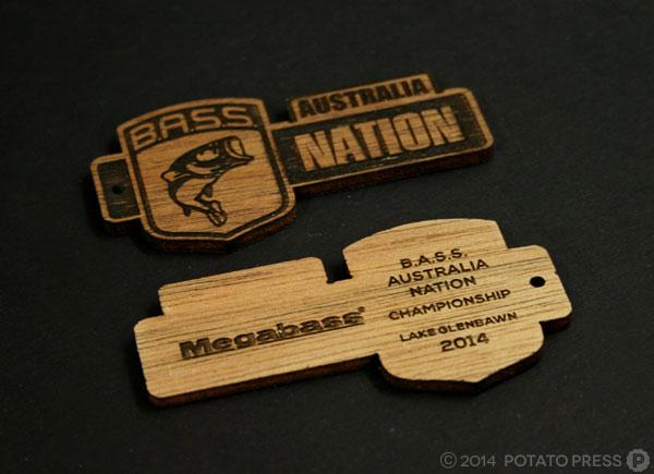 Bass-nation-fishing-wood-keyrings-frontback-trophy-wood-layer-laser-lasercut-etch-timber-custom-goldcoast-gold-coast-sydney-brisbane-melbourne-australia