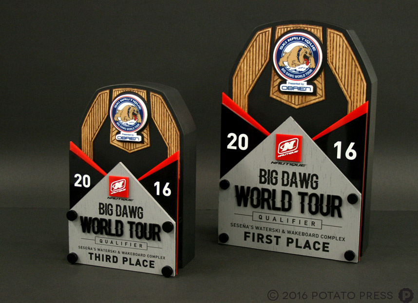 NAUTIQUE-big-dawg-world-tour-first-place-trophy-potato-press-wakeboarding-trophy-custom-wooden-award