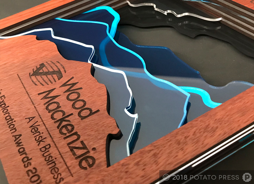 wood mackenzie custom timber acrylic awards trophy